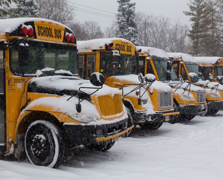 bus winter